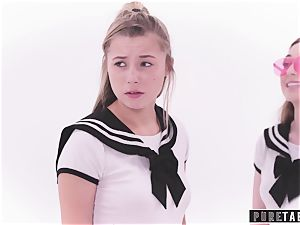 unspoiled TABOO weirdo Busdriver Clones schoolgirls into VR