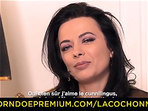 LA COCHONNE - Romanian brown-haired gets ass fucked firm