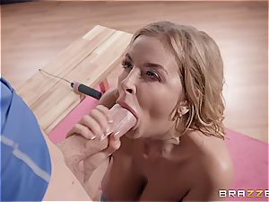 horny yoga featuring a ash-blonde hottie with big cupcakes