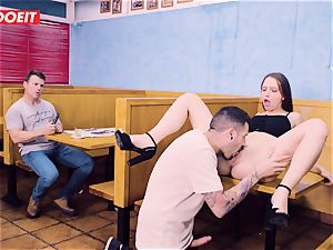 Latina is so naughty That she plumbs a dude in a Restaurant