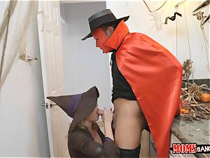 schlong sharing handles on Halloween with Cory haunt and Anastasia Rose