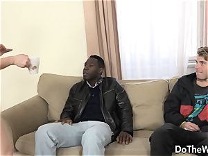 brunette wifey buttfucked by big black cock