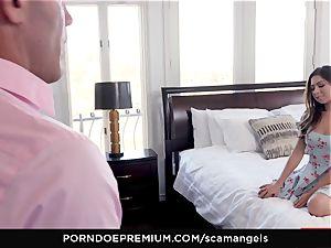 SCAM ANGELS - Gina Valentina gang hookup with super-hot honies