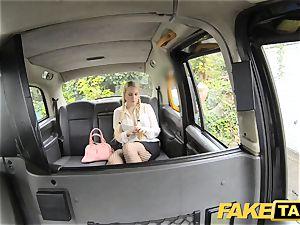 faux taxi platinum-blonde loves old men in backseat of cab