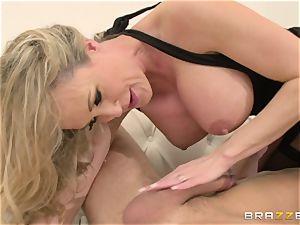 Brandi enjoy gets her vengeance on her cuckold fellow