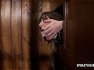 Samantha Bentley drilling the priest