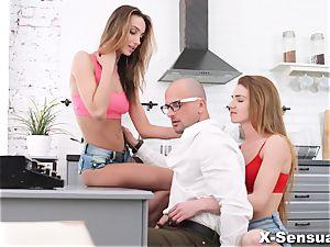 X-Sensual - Melissa Grand - three-way with ass fucking