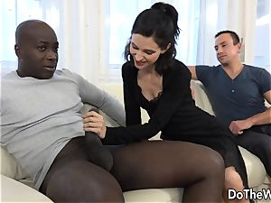 wifey and Cuck converse a black into bum lovemaking