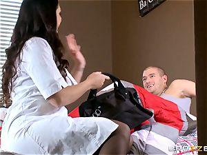 Alison Tyler gives a toyboy patient a sensational prescription
