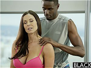 Kendra gets a dose of his dark-hued monster