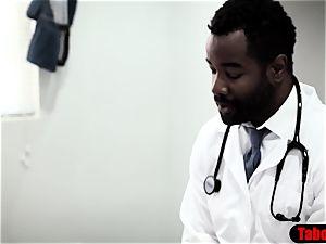 big black cock medic exploits fave patient into ass-fuck fucky-fucky examination