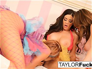Taylor Emily and Jayden have some joy