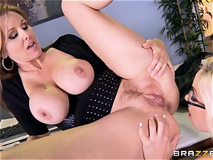 chief Julia ann tears up her magnificent assistant Olivia Austin