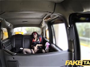 faux taxi female in mask gets smashed in the booty