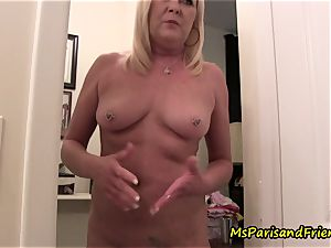 mummy Plays with Herself The Has piss urinate have fun Time