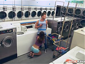 Dillion Harper screwed in a laundry basket