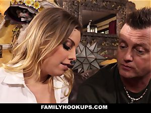FamilyHookUps - towheaded babe pummels Her Brother-In-Law