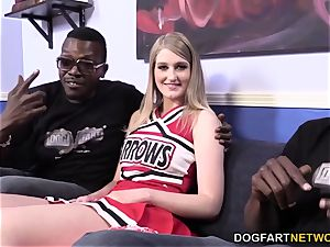 Summer Carter Gets smashed By trio ebony fellows