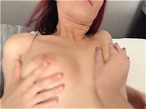 big-chested lesbians having fun in hotel apartment