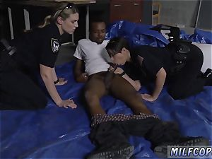 Uniform trussed very first time Cheater caught doing misdemeanor break in