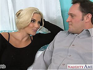 Glamourous Phoenix Marie well-prepped for boner in her rosy poon