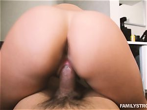 Devyn Heart caught by her step brother and pays for it