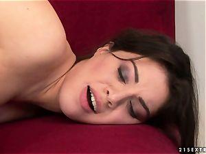 Tiffany female smooching super hot with mature gal