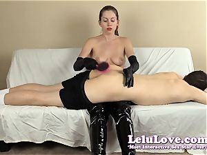 female dominance smacking his arse with my hairbrush hands..
