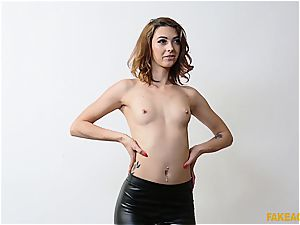 insatiable Czech bombshell will do anything to pass the casting