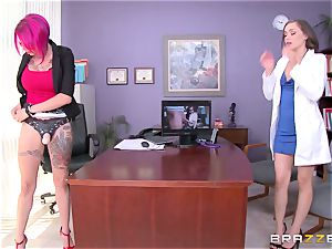 sapphic pornography with Dr. Anna Bell Peaks and youthful nurse Tiffany star