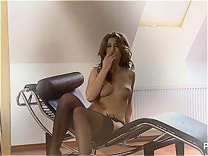 Kristine loves to paw her wet fuckbox