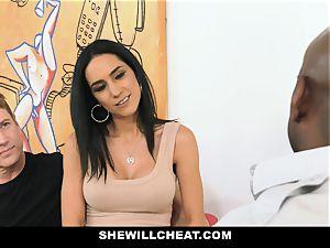 SheWillCheat - warm wifey With ample Rack enjoys black schlong