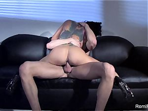 fabulous Romi Rain taunts and then gets pounded rigid