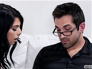 Spizoo - Gina Valentina taking her step father's man rod