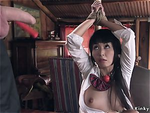 Kidnapped japanese college girl ass fucking torn up