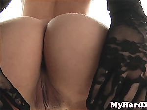 steamy platinum-blonde can't get enough big dong in her fuck-holes