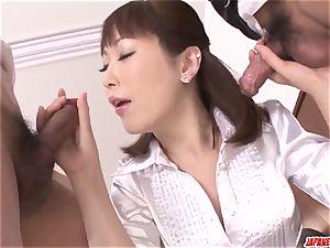 Nonoka Kaede sucks bone in incredible mummy porn hardcore