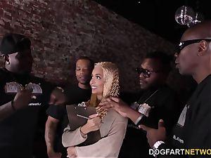 interracial gang-bang With anal invasion bitch Aaliyah Hadid