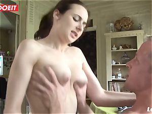 LETSDOEIT - inexperienced French loves groaning On ample dicks