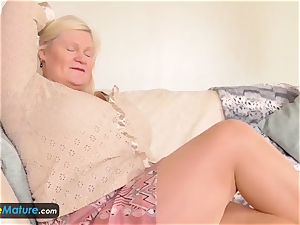 EuropeMature elderly damsels Amy and Lacey fucktoys solo