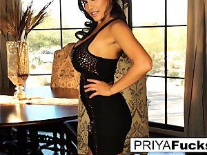 Dining apartment joy with beautiful Priya Rai