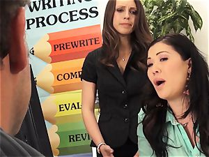 masters London Keyes and Jade Nile pound a college girls dad