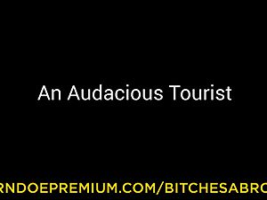 cocksluts ABROAD - small tourist pummeled by muscular otter