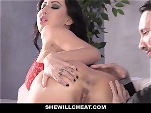 SheWillCheat - cockslut wife butt boned by buddy