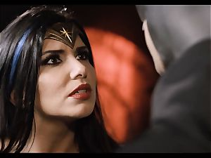 Justice League hard-core part five - Hero bang-out with Romi Rain