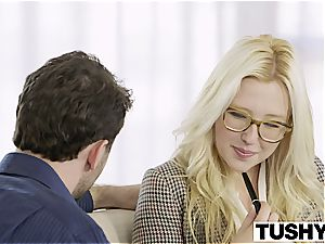 TUSHY first anal invasion For towheaded honey Samantha Rone