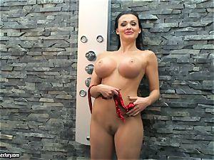 Aletta Ocean ultra-kinky gal taking a shower naked