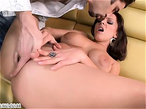 inebriated mature dame with a supreme thick hooter well-prepped for free sex in the bar