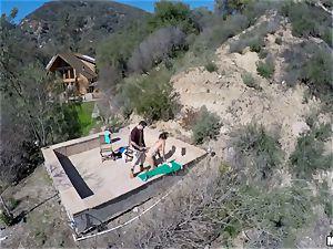 Flying voyeur gets footage of Danica Dillan boinking
