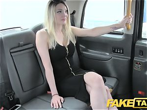 faux taxi super steamy platinum-blonde with a fine bod likes chisel